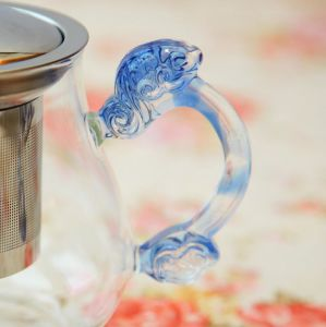 Pyrex Glass Teapot Set Gift Heat Resistance Glass Teapot with Infuser pictures & photos