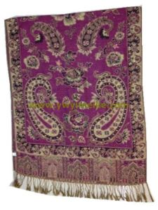 Classical Cashew Design Acrylic Jacquard Weave Shawls pictures & photos