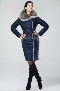 2017 Winter Jacket Women Plus Size Winter Coat Women Luxury Down Jackets Women Large Fur Hood Assymetric Zip Parkas Snow Jackets pictures & photos