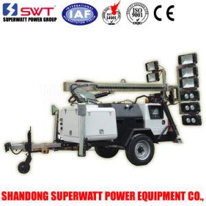 10m Fully Hydraulic Standard Sunight Lighting Tower with Tandem Axle