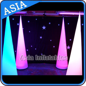 2.4m Inflatable Light Cone for Wedding Decoration, Infltable Lighting Tusk pictures & photos