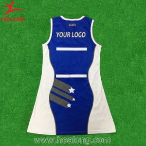 Healong Sportswear Sublimation Printed Customized Netball Skirt Dress pictures & photos