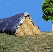 UV Treated Silver/Black Poly Tarp Hay Tarpaulin pictures & photos