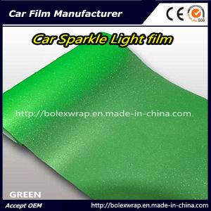 Green Sparkle Shining Car Light Film/ Headligh Film/Tail Light Tint Tail Lamp Film 0.3*9m pictures & photos