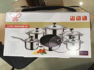 12PCS Stainless Steel Non-Stick Cookware Set (JL-0109) pictures & photos