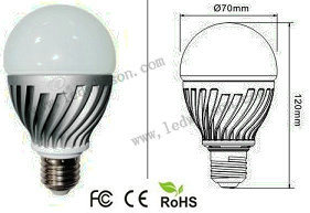 GU10 9W LED Bulb Light, 800lm, CRI 80, 150deg., 60-75W Incandescent Replacement