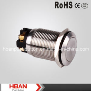 Hban CE RoHS (19mm) Momentary Latching Vandalproof Push Button Switch pictures & photos