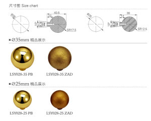 Solid Brass Ball Type Furniture Knob Handle pictures & photos