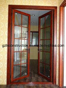 Wooden Color Aluminum Casement Door pictures & photos
