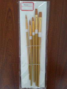 Wooden Handle Nylon Painting Brush, Bristle Paint Brush pictures & photos