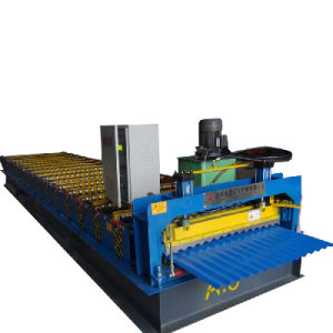 Dx Design Trapezoid Metal Roof Sheet Roll Forming Making Machine pictures & photos