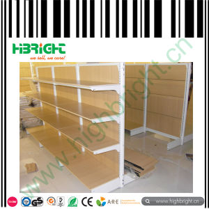 Supermarket Wooden Metal Combined Display Shelving pictures & photos