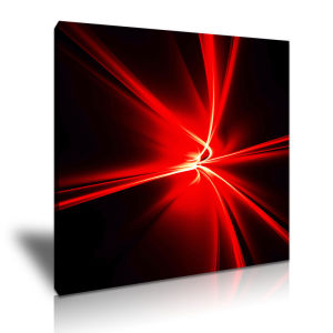 Red Light Canvas Abstract Decorative Painting with Magic