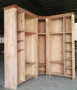 Custom Made Solid Wood Wardrobe #W20130527 pictures & photos