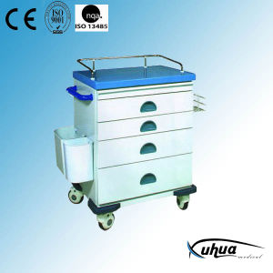 Steel Painted Hospital Medical Treatment Trolley (N-8) pictures & photos