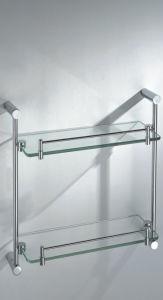 Bathroom Double Tier Glass Shelf (6620) pictures & photos