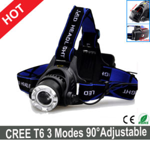 Hot Sale Outdoor LED Headlamp 3 Modes 90degree Adjustable for Head pictures & photos