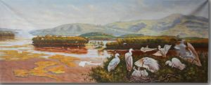 Oil Painting Reproduction of The Rest Egret pictures & photos