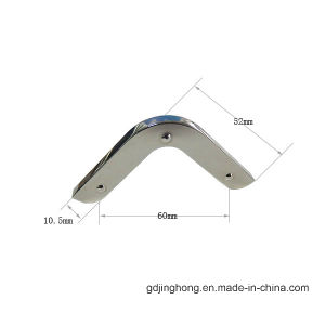 Brushed Nickel Zinc Alloy Protection Metal Corner for Luggage Accessories pictures & photos