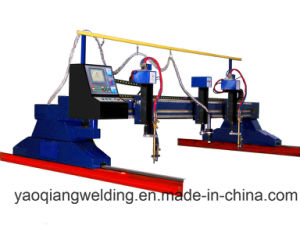 H Beam Structure Steel Cutting Machine with Plasma Cutting Torch pictures & photos