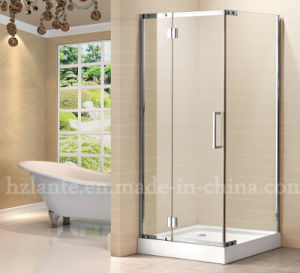 Stainless Steel Frame Shower Enclosure with Square Tray (LTS-036) pictures & photos