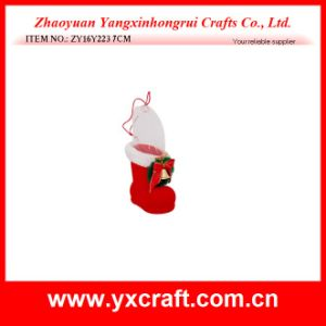 Christmas Decoration (ZY16Y223 7CM) Christmas Wreath Boot Jewelry Design pictures & photos