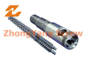 Conical Twin Screw Barrel/ Twin Screw Extruder Screw Barrel pictures & photos