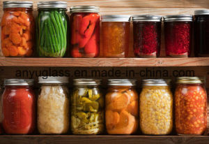 16oz Wide Mouth Ball Glass Mason Jar with Metal Lid Metal/Store Jam Jar pictures & photos