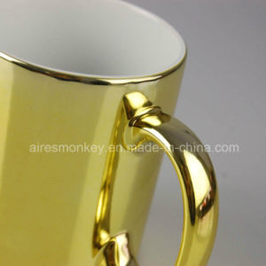 Customized Promotional Gold Decal Porcelain Ceramic Cups pictures & photos