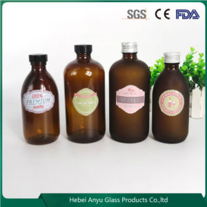 Round Clear Amber Pharmaceutical Glass Bottle Syrup Bottle with Cap pictures & photos
