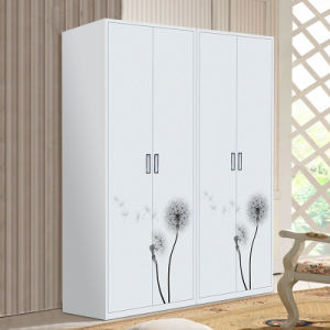Fashion Desion Two Swing Doors Large Steel Wardrobe pictures & photos