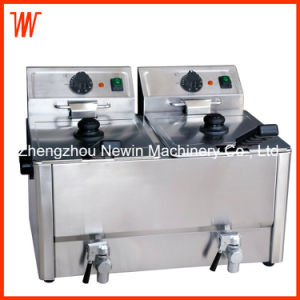 8+8L Commercial Double Tank Electric Fryer for Chicken Steak pictures & photos