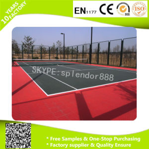 PP Outdoor Interlocking Plastic Floor Tile for Basketball Court pictures & photos