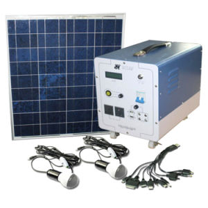 Solar Energy Home System with Lead Acid Battery Solar Panel pictures & photos