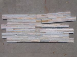 Yellow Slate Stack Stone for Wall (SSS-58) pictures & photos