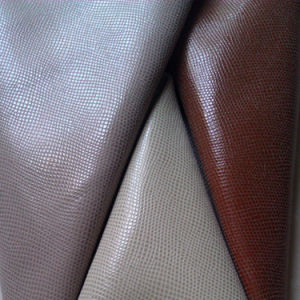 PU Leather, Used for Bags, Handbags, Sofa, Shoe Materials with Cross Line (9019)