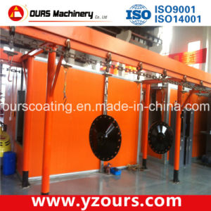 Advanced Paint Spraying Line with Water Curtain Paint Booth pictures & photos
