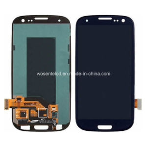 A+Quality Blue LCD Display for S3 I747 Touch Screen Digitizer+Frame with Frame for Samsung S3 I9300 I9300I S3 Neo I747