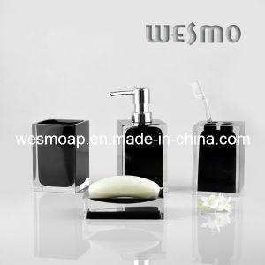 Transparent Black Polyresin Bath Set (WBP0262C) pictures & photos