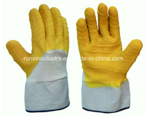 Interlock Latex Coated Safety Working Gloves L1702 pictures & photos