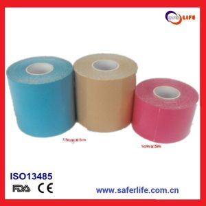 2017 Hot Sale Wholesale in Roll Waterproof Kinesiology Sport Adhesive Tape Kinesio Mueller Strong Bandage Tapekinesion Tape pictures & photos