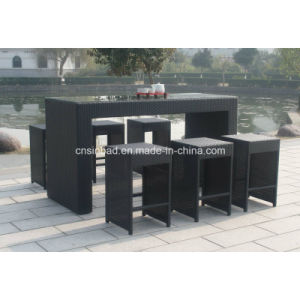 Wicker Bar Set for Outdoor with 6 Seater SGS (6301) pictures & photos