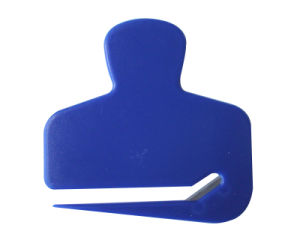 Promotional Gift Blue Plastic Envelope Letter Opener pictures & photos