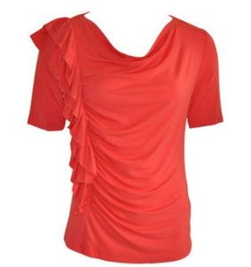 Cowl Neck Frill Front Top