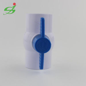 White Color PVC/UPVC Compact Ball Valve pictures & photos