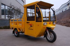 Three Wheeler Electric Tricycle with Cab pictures & photos