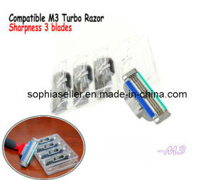 Compatible for Gillette Mach 3 Turbo Razor Sharpness Blades pictures & photos