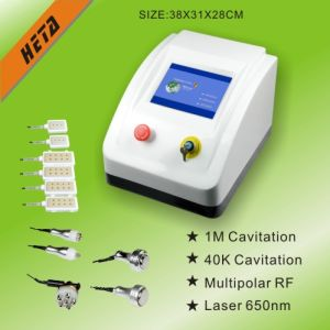 Portable 5 RF Skin Care Handle 6pads 650nm Laser Weight Loss Machine H-1005b pictures & photos