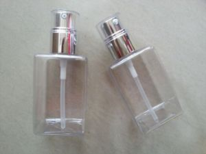 Clear Square Cosmetic Cream Body Lotion PETG Bottle Jj-014