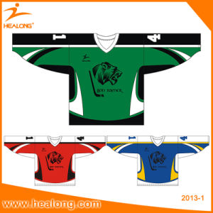 Healong Polyester Full Dye Sublimation USA Hockey Socks Ice Hockey Jerseys pictures & photos